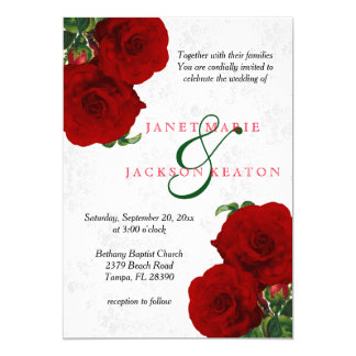 red wedding invitations & announcements | zazzle, Wedding invitations