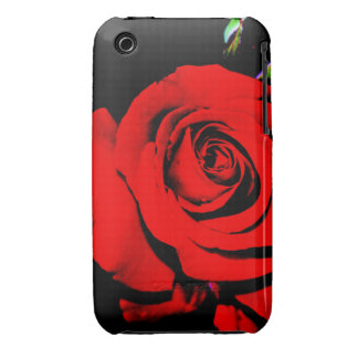 Deep Red Rose iPhone 3 Covers