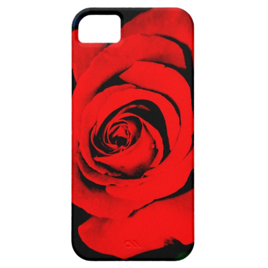 Deep Red Rose iPhone SE/5/5s Case
