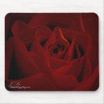 Deep Red Rose Mousepad