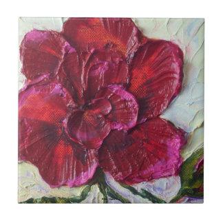Deep Red Rose Tile