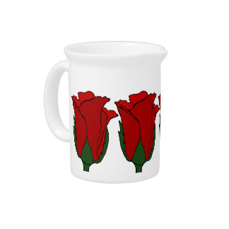 Deep Red Roses Pitcher