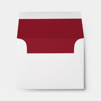 Deep Red RSVP Wedding Response B07 Envelope
