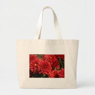 Deep Red Serenity Canvas Bag