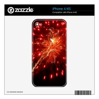Deep Red Skins For iPhone 4S