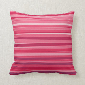 Deep red Striped Abstract acrylic painting Pillow
