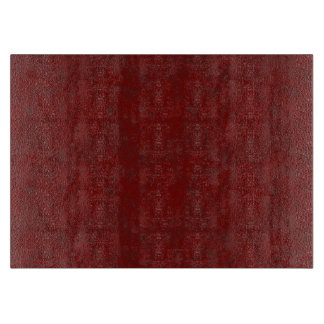 Deep Red Texture MED Glass Cutting Board