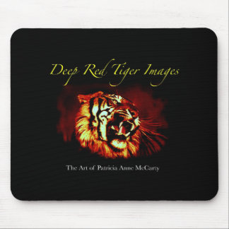 Deep Red Tiger Images Mouse Pad