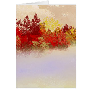 Deep Red Trees Card