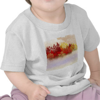 Deep Red Trees T Shirt