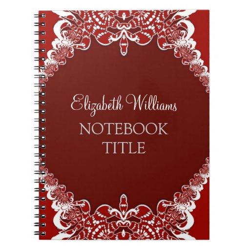 Deep Red Tribal Batik Notebook