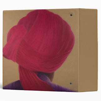 Deep Red Turban Purple Jacket 3 Ring Binder
