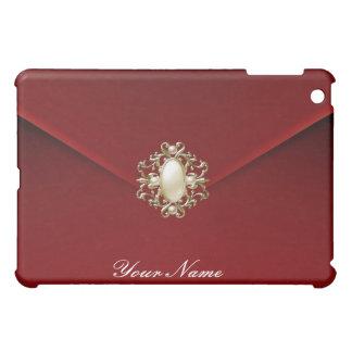 Deep Red Velvet Pearl Jewel Case For The iPad Mini