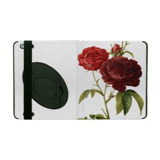 Deep red vintage roses painting iPad case