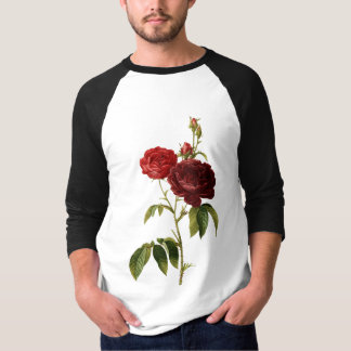 Deep red vintage roses painting T-Shirt