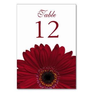 Deep Red White Gerbera Daisy Wedding Card