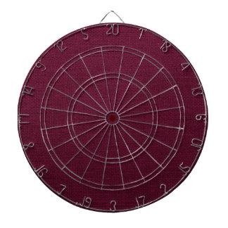 Deep Red Wine Rustic Burlap Texture Dart Boards
