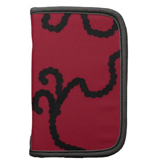 Deep Red with Black Bead Design Organizers