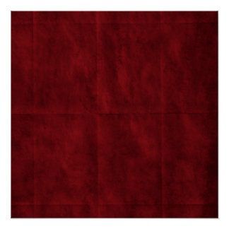 Deep Red with Creases background Poster
