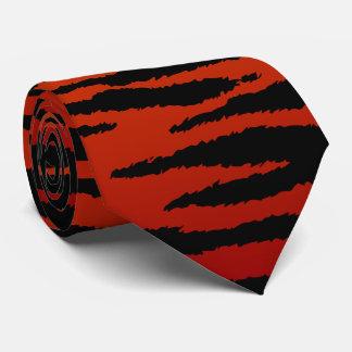 Deep Red Zebra Stripe Neck Tie