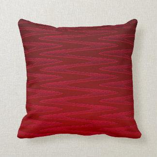 Deep Red Zigzag Design Throw Pillows