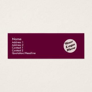 Deep Redish Purple Mini Business Card