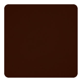 Deep Rich Brown color background Customizable Card