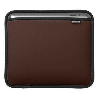 Deep Rich Brown color background Customizable Sleeve For iPads