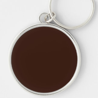 Deep Rich Brown Solid Color Keychain