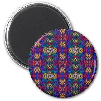 Deep Rich Fall Blues Purple Tribal Pattern Magnet