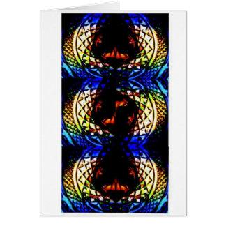 Deep Rich Jewels Glass Card