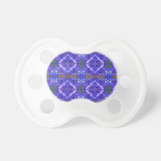Deep Rich Purple Blue Fractal Tribal Pattern Pacifier
