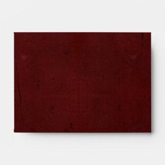 Deep Rich Red A6- Envelope