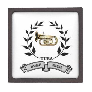 deep rich tuba jewelry box