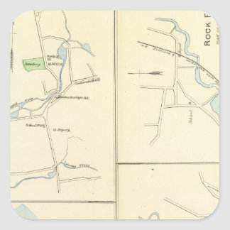 Deep River, Ivoryton, Centre Brook, Essex Square Sticker