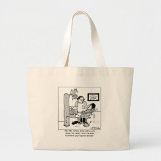 Deep Root Canal To Remove Ingrown Toenail? Large Tote Bag