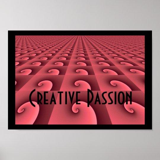 Deep Rose Pattern Design - Creative Passion Poster