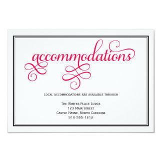 Deep Rose Pink Wedding Accommodations Card