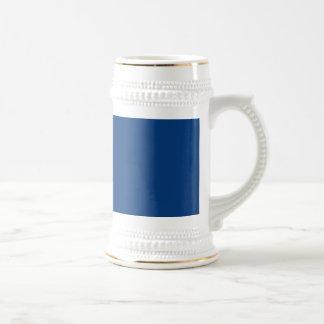 Deep royal blue beer stein