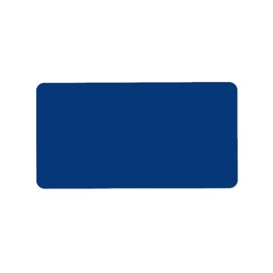 Deep royal blue label