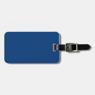Deep royal blue travel bag tag
