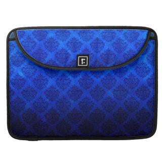 Deep Royal Blue Vintage Damask Grunge Texture MacBook Pro Sleeves