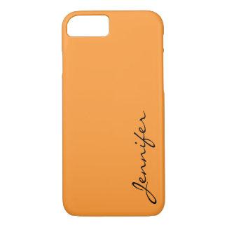 Deep saffron color background iPhone 7 case