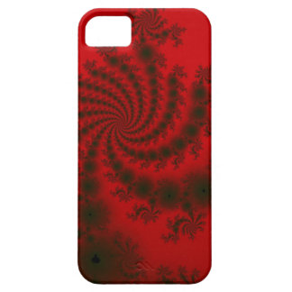 Deep scarlet and black with tree silhouette effect iPhone 5 cover