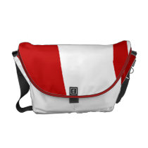 Deep Scarlet Warrior II Messenger Bag