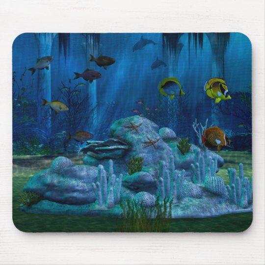 Deep Sea 3D Digital Aquarium Mouse Pad