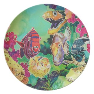 Deep Sea Beauties Tropical Fish Painting Party Plates