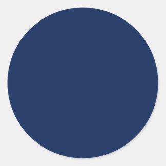 Deep Sea Blue Round Stickers
