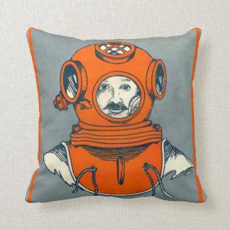 Deep Sea Diver Throw Pillow
