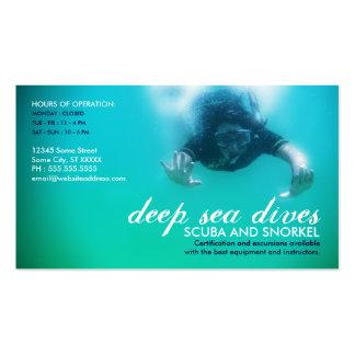 deep sea dives (scuba and snorkel) business card